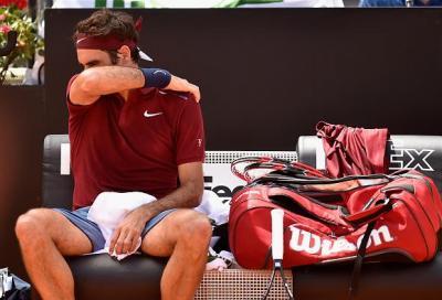 """Federer saluta Roma """"Sono felice lo stesso"""""""