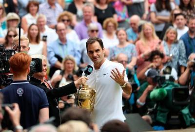 Il record mancato da Roger Federer...è in TV