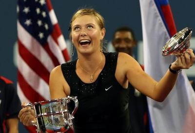 Maria Sharapova esulta: lo Us Open ha detto sì
