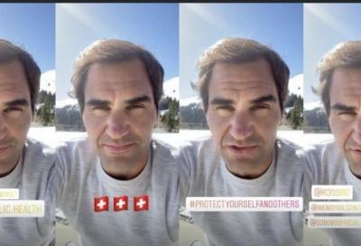 """Federer sui social: """"Restate a casa, situazione molto seria"""""""
