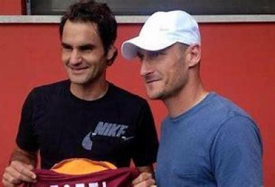 """Francesco Totti: """"Federer è un amico, un giorno lo sfiderò a Padel"""""""
