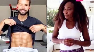 Venus Williams e Dimitrov tengono lezioni di fitness su Instagram