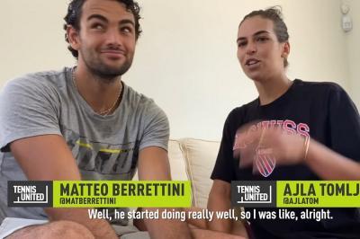 """Berrettini e Tomljanovic: """"Ecco come ci siamo conosciuti"""""""