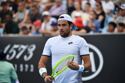 Matteo Berrettini ritorna in campo nell'Ultimate Tennis Showdown