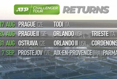 I Challenger ripartono il 17 agosto: in un mese Todi, Trieste, Cordenons e Parma