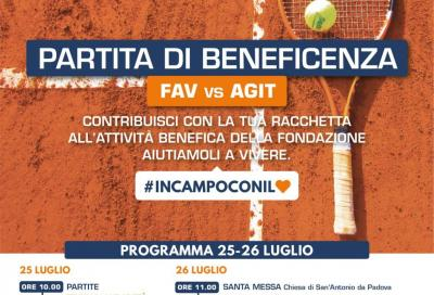 Tennis e solidarietà, a Cattolica partita di beneficienza FAV vs AGIT