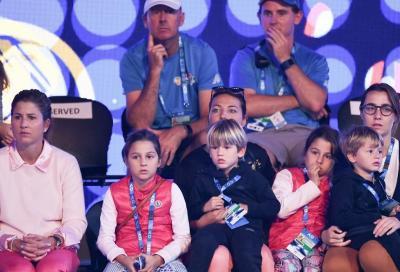 Roger Federer e i figli si divertono in un'accademia in Svizzera
