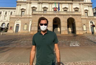 """Federer visita Milano, Vinci scherza: """"Spaghetti o fusilli?"""""""