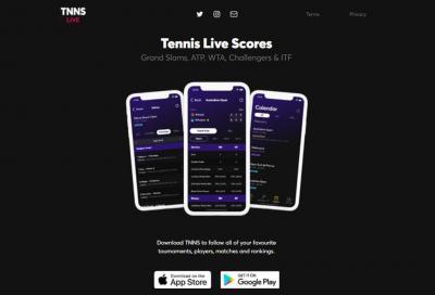 Arriva l'app TNNS, e il live score è più ricco di prima