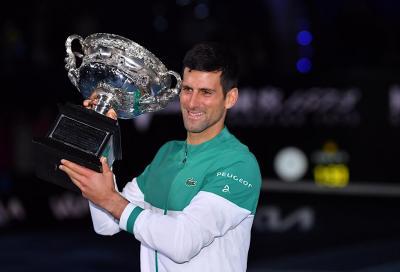 Australian Open: Novak Djokovic ha guadagnato 1 milione di dollari in meno rispetto al 2020