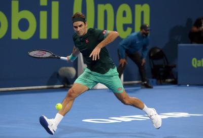 Federer debutta con le nuove On a Doha