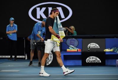 """Federer stizzito dopo il warning: """"Se ti servono altri dieci rimbalzi prima di servire, vuol dire che non sei pronto"""""""