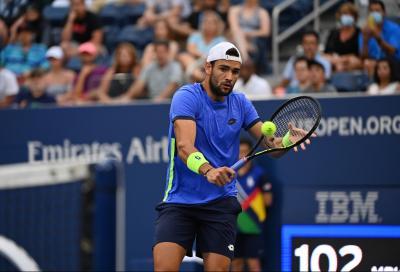 Us Open: Berrettini vince il primo, poi è Djokovic show