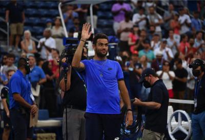 Us Open, Matteo Berrettini dopo la sconfitta con Djokovic: