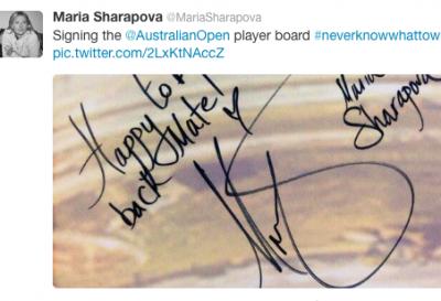 Sharapova vuol lasciare il segno in Australia