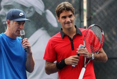 E Federer si vendica di McEnroe...