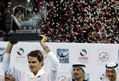Federer ancora emiro a Dubai