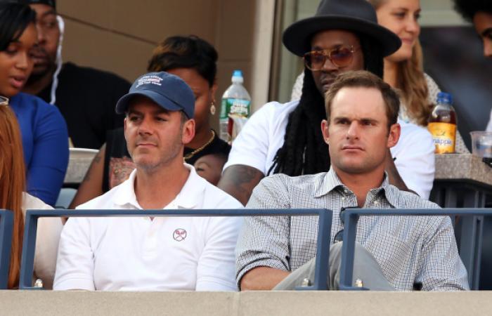Andy Roddick in tribuna.Foto Getty Images / Il Tennis Italiano. Selezione di Max Grassi.Diritti riservati.