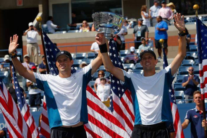 Gli statunitensi Mike Bryan e Bob Bryan. Foto Getty Images / Il Tennis Italiano. Selezione di Max Grassi.Diritti riservati.
