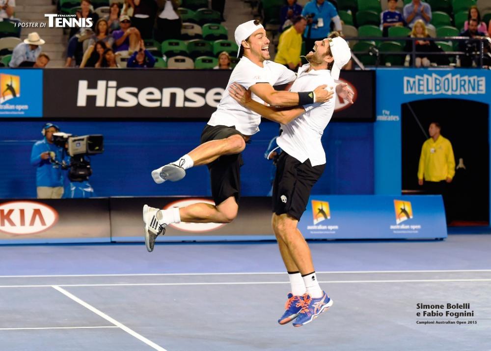 """L'undicesimo poster allegato al numero di marzo 2015 de """"Il Tennis Italiano""""Il Tennis Italiano. Selezione di Max Grassi.Diritti riservati."""