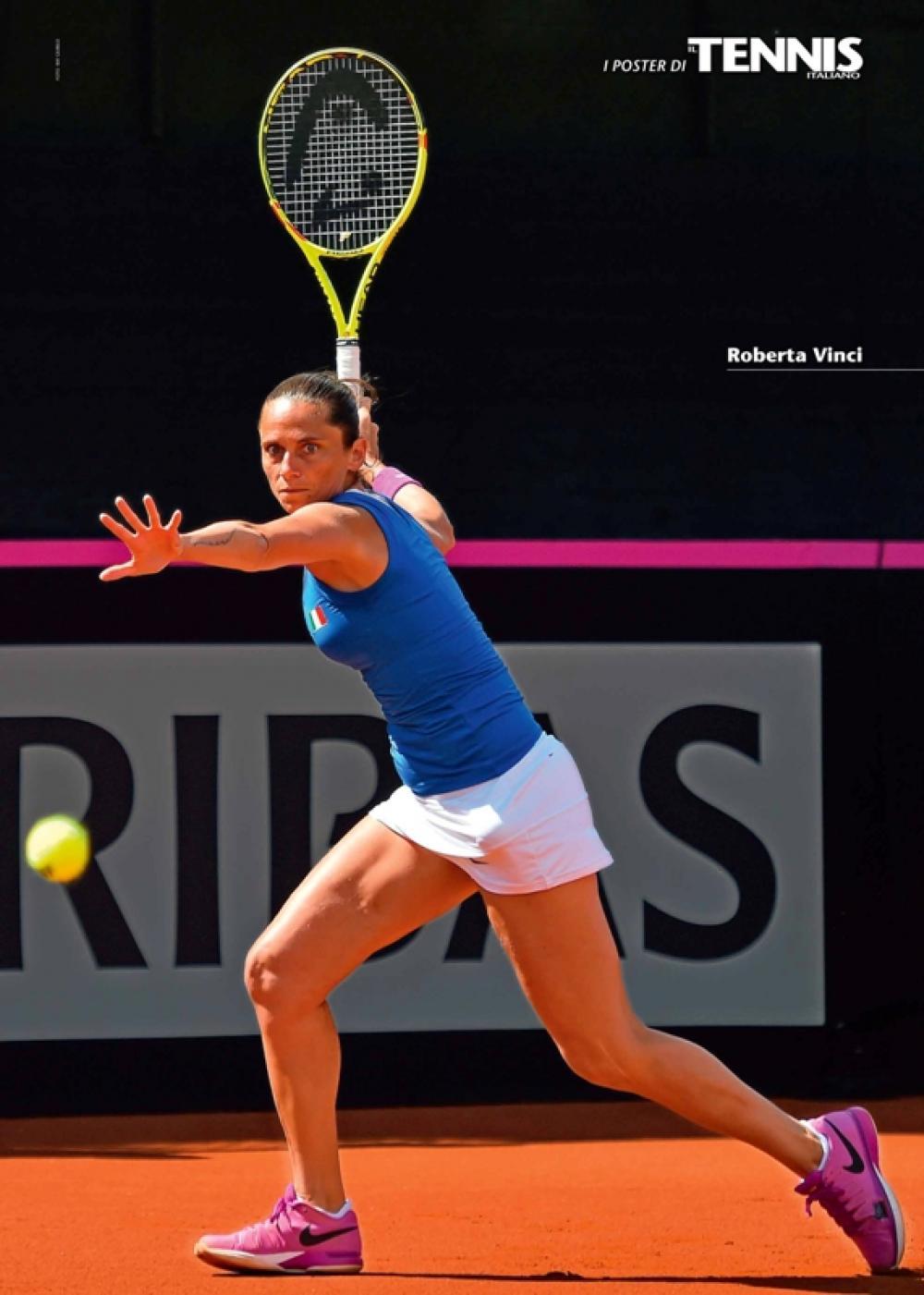 """Il venticinquesimo poster allegato al numero di maggio 2016 de """"Il Tennis Italiano"""" è dedicato a Roberta VinciIl Tennis Italiano. Selezione di Max Grassi.Diritti riservati."""