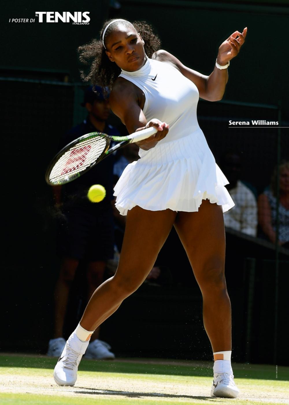 """Il ventottesimo poster allegato al numero di agosto 2016 de """"Il Tennis Italiano"""" è dedicato a Serena WilliamsIl Tennis Italiano. Selezione di Max Grassi.Diritti riservati."""