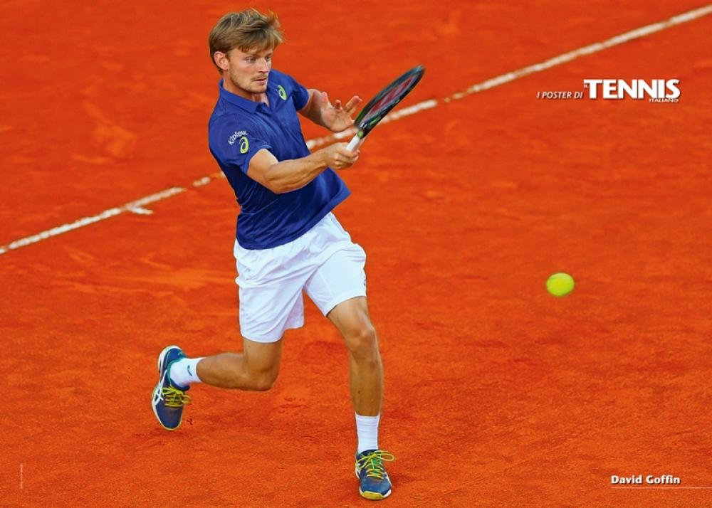 """Il ventiseiesimo poster allegato al numero di giugno 2016 de """"Il Tennis Italiano"""" è dedicato a David GoffinIl Tennis Italiano. Selezione di Max Grassi.Diritti riservati."""