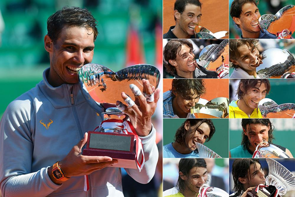 """È cambiato il trofeo ed è cambiato il look di Nadal, che dal bambino (o quasi) del 2005 si è trasformato nell'uomo del 2018, ma non è cambiato il nome del vincitore del Masters 1000 di Monte Carlo, che grazie alla sua collocazione in calendario è diventato l'appuntamento in cui il maiorchino stabilisce i propri record. """"La Decima"""" nel 2017, l'undecima del 2018, che altro negli anni a venire? La sua superiorità sulla terra fa pensare che dominerà ancora. E ancora."""