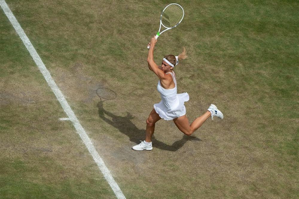 Se l'erba sotto ai piedi è rovinata, significa che si è fatta strada nel torneo.