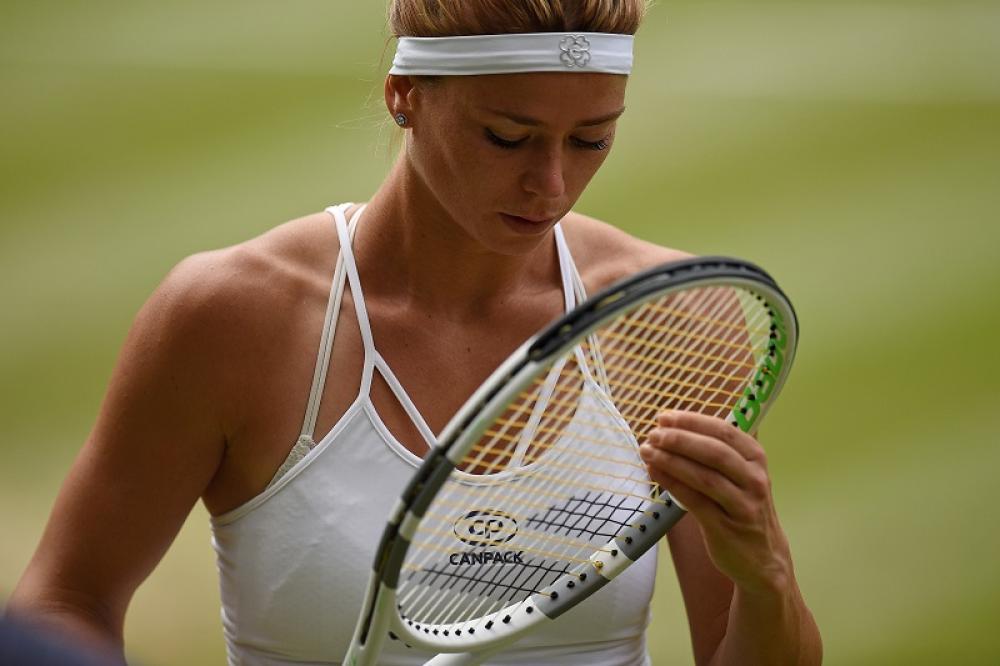 A Wimbledon ha mostrato ottime doti di concentrazione.