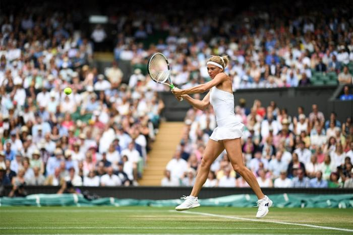 Il palcoscenico del Centre Court non le ha fatto paura.