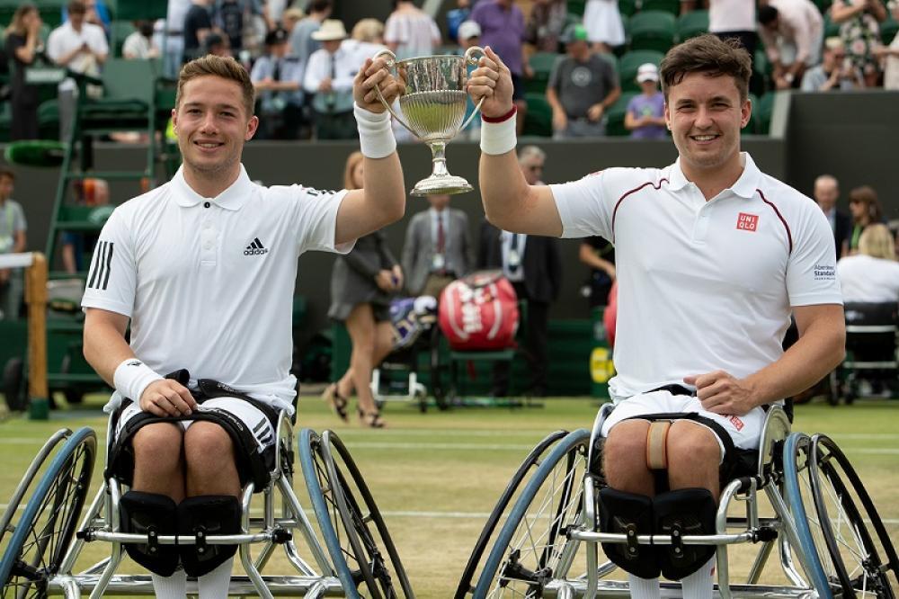 Soddisfazione britannica nel doppio wheelchair: si sono imposti Gordon Reid e Alfie Hewett.
