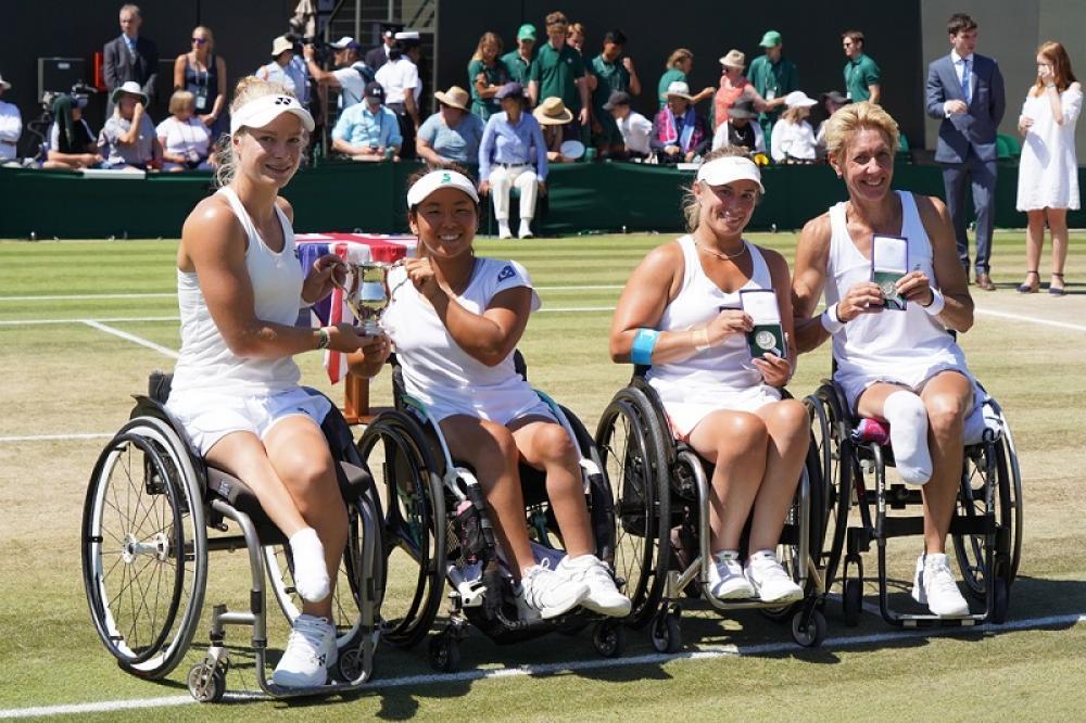 Il torneo wheelchair è sempre più seguito: il doppio femminile è andato alla coppia olandese-giapponese composta da Diede De Groot e Yui Kamiji.