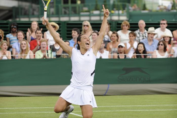 Wimbledon 2009 – Francesca è l'unica italiana ad aver raggiunto almeno i quarti in tutte le prove del Grande Slam. Il più complicato era Wimbledon: quell'anno batté Virginie Razzano prima di arrendersi alla migliore Dementieva di sempre, che un paio di giorni dopo arrivò a tanto così dal battere Serena Williams.