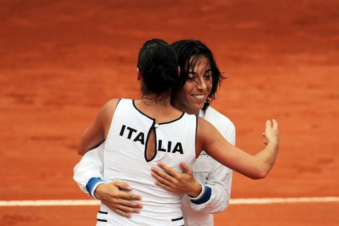 Reggio Calabria 2009 - L'Italia domina l'intera Fed Cup e in finale passeggia sull'imbarazzante formazione presentata dagli Stati Uniti (Glatch e Oudin). Ma gli assenti hanno sempre torto e Francesca, a suon di colpi spettacolari, regala all'Italia il punto del 2-0.