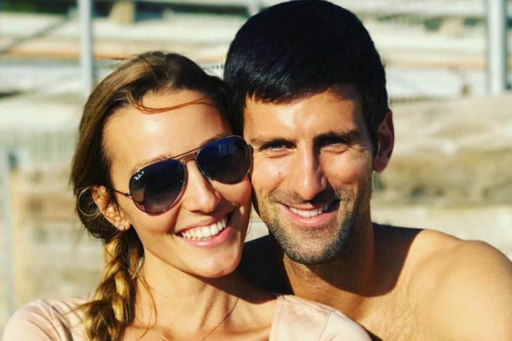 Jelena Ristic e il marito Novak Djokovic