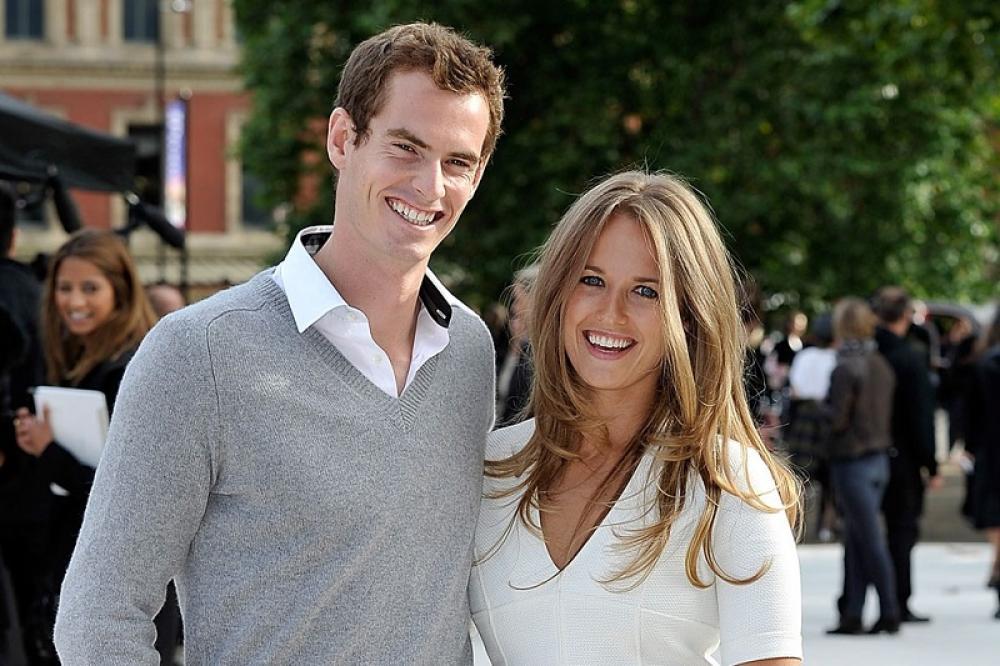 Andy Murray con la moglie Kim Sears
