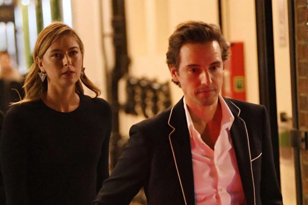 Maria Sharapova con l'attuale partner Alexander Gilkes