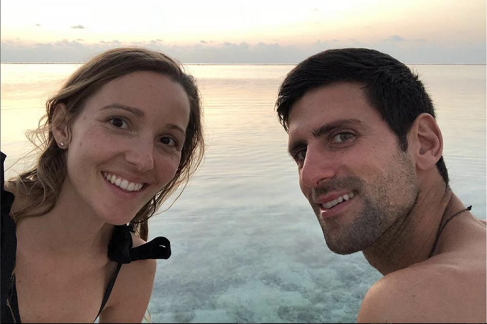 Nole Djokovic con la moglie Jelena