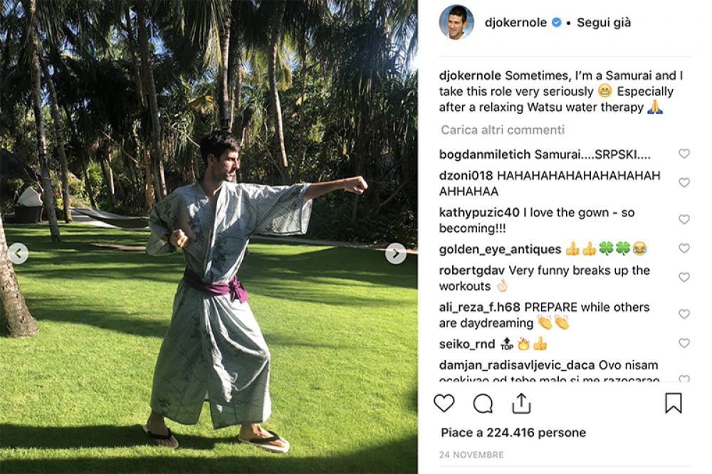 Djokovic in versione samurai