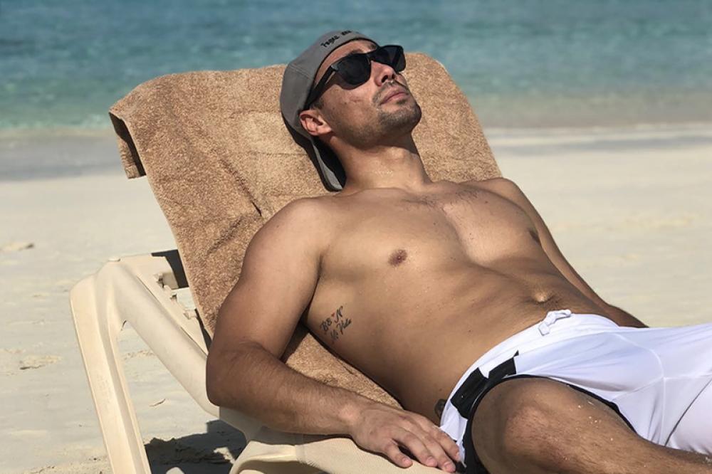 Fabio Fognini in pieno relax a Turks e Caicos