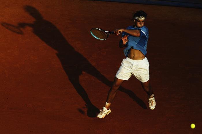 Rafael Nadal a 16 anni, nel 2003