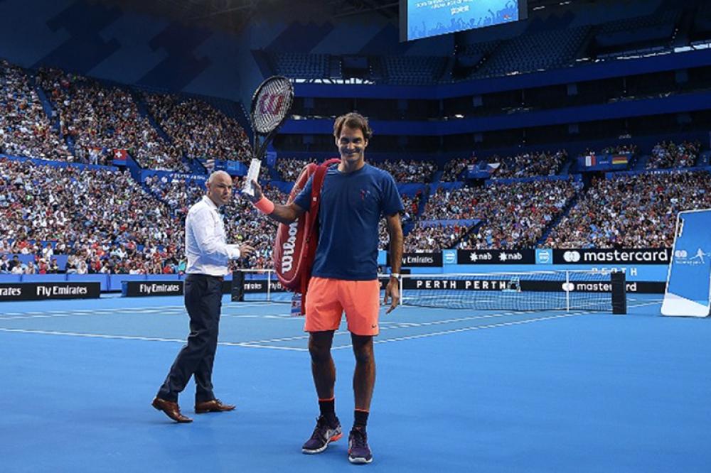 Nel 2017 Roger Federer aveva attirato addirittura 6.000 persone sugli spalti per il suo primo allenamento
