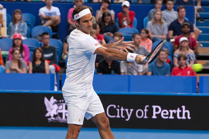 Una leggera sgambata. Federer, soprattutto a 37 anni, non è celebre per gli allenamenti troppo duri ;)