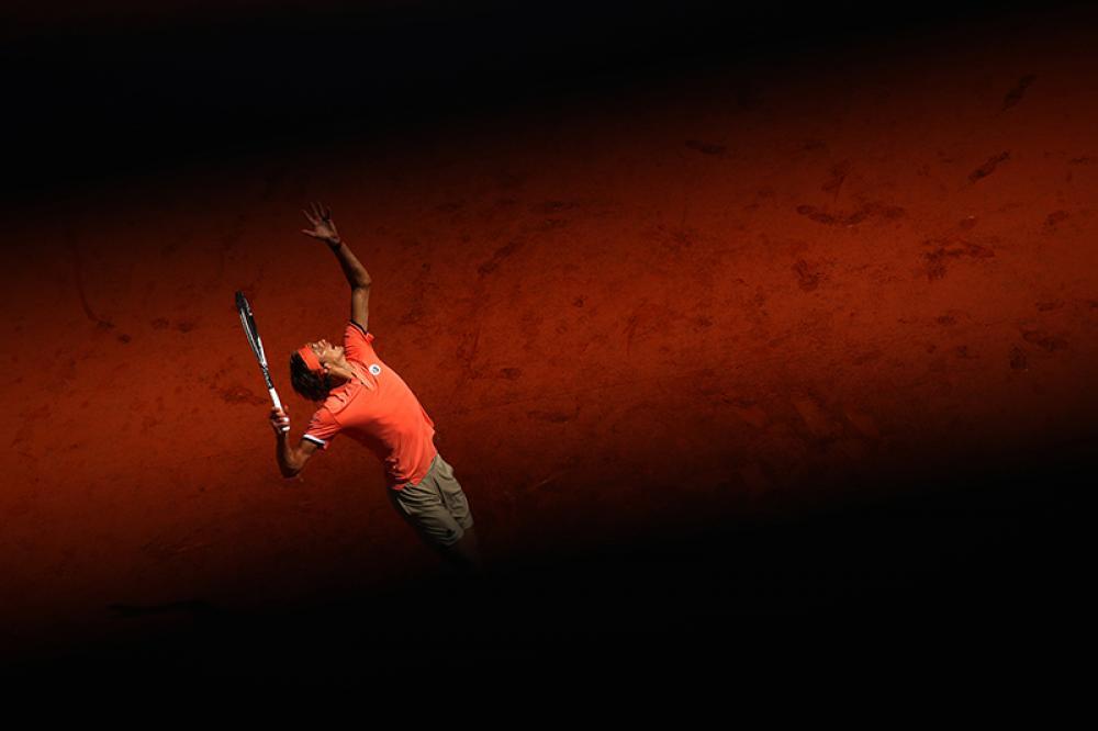 Il sole illumina la nuova star del tennis mondiale, Sascha Zverev.