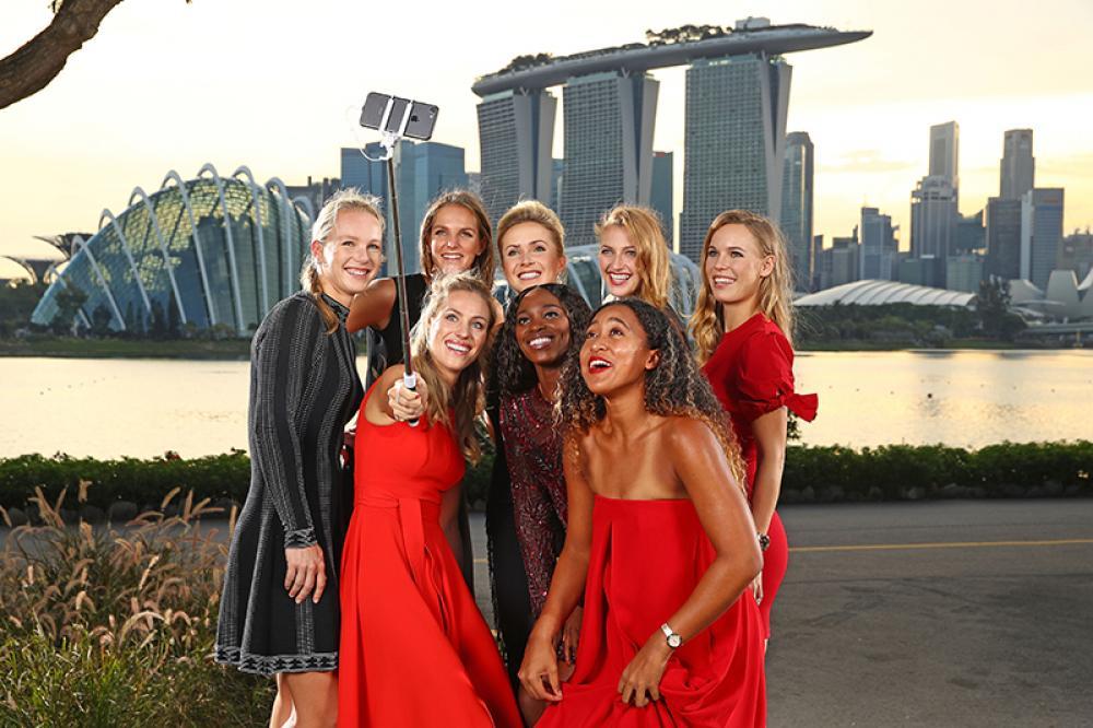 Il più bel selfie della stagione: WTA Finals.