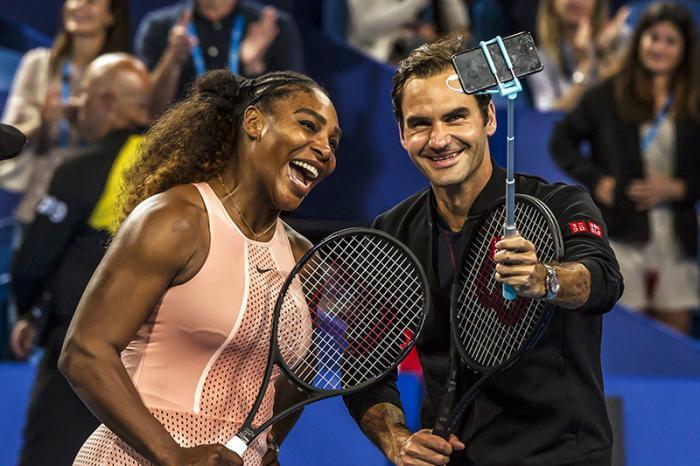 Il selfie dell'anno già a... Capodanno? Può essere quando ci sono di mezzo 43 titoli dello Slam.
